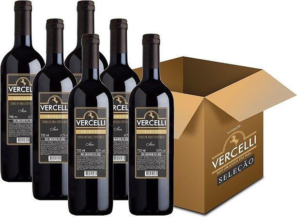 Vinho de Mesa - Vercelli Tinto Seco Seleção 6x750ml