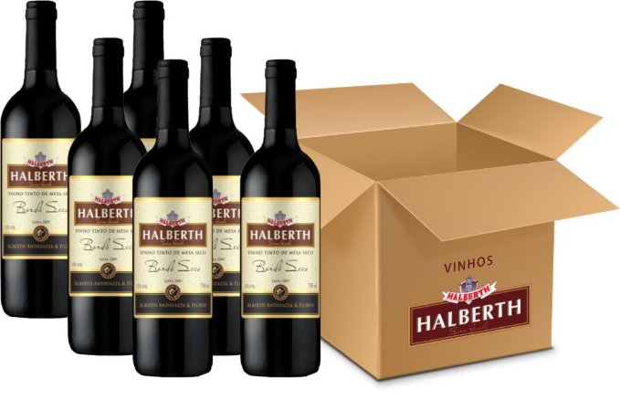 VINHO DE MESA - HALBERTH TINTO SECO BORDÔ 6X750ML
