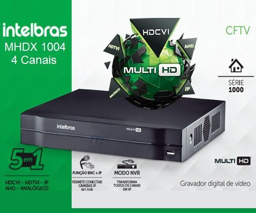 GRAVADOR DIGITAL DVR 04 CANAIS  MHDX 1004 INTELBRAS