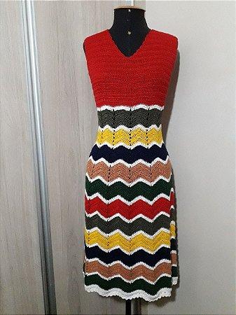 Vestido Crochê Tilda