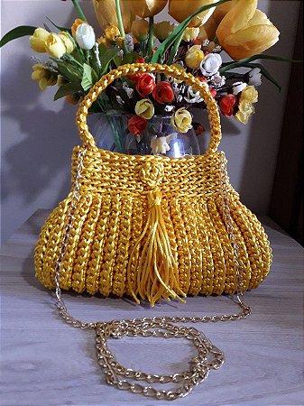 Bolsa Crochê Fio Seda - Coleção Cindy