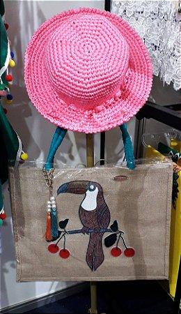 Chapéu Crochê - Verão Flor do Mussambê