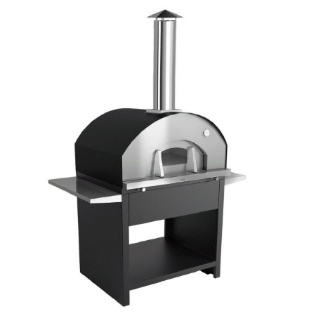 Forno de Pizza à Lenha 803EX - Modelo Garden Grande Preto Metávila