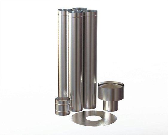 Kit Simples Instalação 150mm Inox