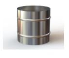 Inversor Bitola de 150mm em aço inox