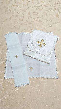 Kit Viático ou kit ministro para levar a Santa Eucaristia para enfermos - Cruz 5