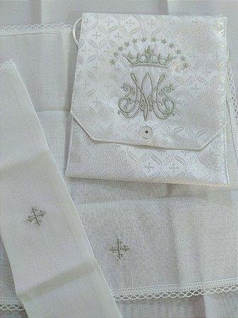 Kit Viático ou kit ministro para levar a Santa Eucaristia para enfermos - mariano branco prata