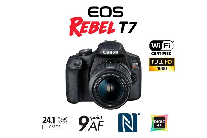 Camera digital Canon EOS Rebel T7 Kit EF-S18-55 IS II BR