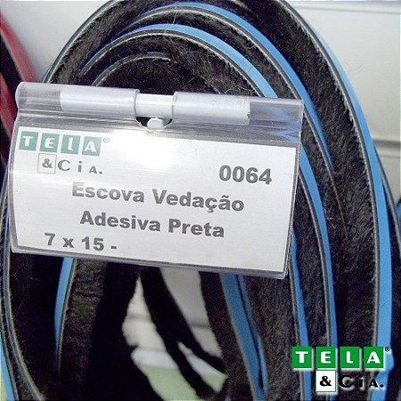 Escova de Vedação - 7 X 15 mm - Por Metro