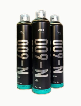 Spray NOU Colors N-600 Alta pressão (Cromo e preto)