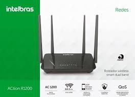 ROTEADOR WIRELESS DUAL BAND ACTION R1200 - INTELBRAS