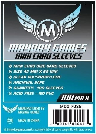 Mini Euro Card Sleeve (Pac. com 100) MAYDAY – 45x68mm