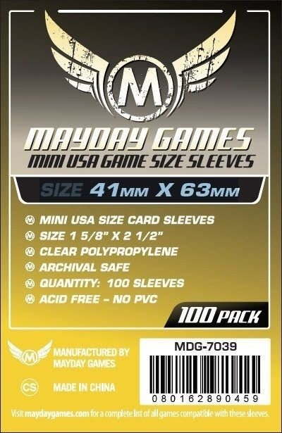 Mini USA Card Sleeve (Pac. com 100) MAYDAY – 41x63mm