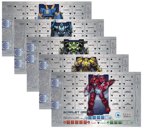 Caçadores da Galáxia Mecha Pack Guardiões (5 robôs exclusivos)