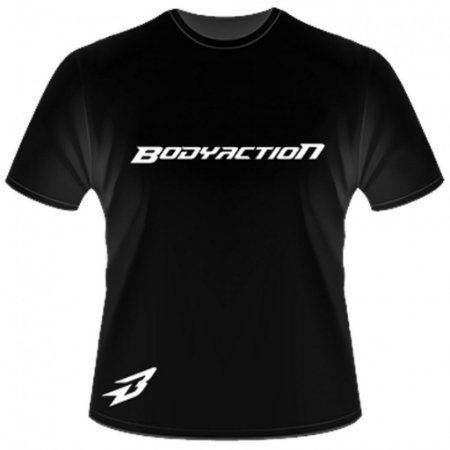 CAMISETA PRETA LISA BODY ACTION