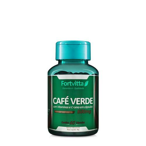CAFÉ VERDE C/ VIT E E CROMO- 60 CÁPSULAS- 600MG- FOTVITTA
