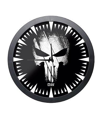 Relógio de Parede The Punisher O justiceiro Preto