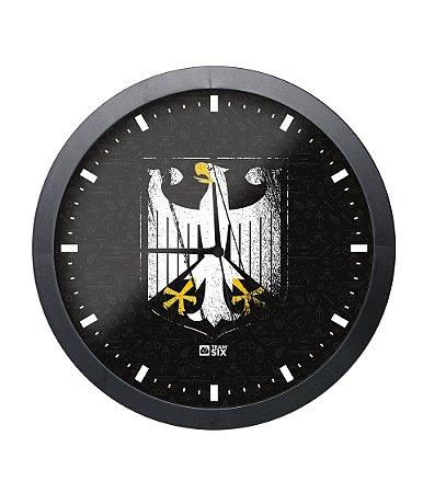 Relógio de Parede Spezialkrafte Alemanha Preto