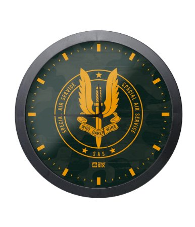 Relógio de Parede SAS Special Air Service Preto