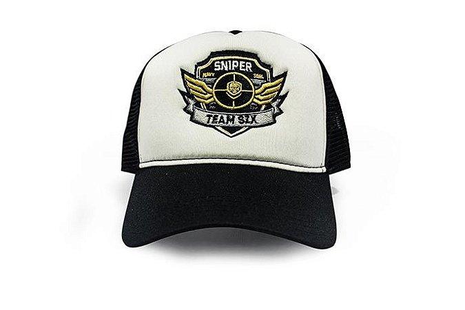 Boné Trucker Militar Sniper Team Six