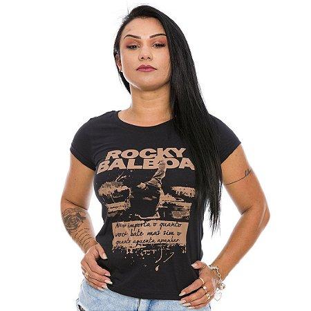 Camiseta Militar Baby Look Feminina Rocky Balboa