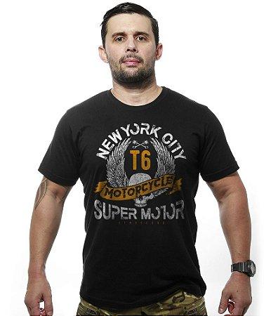 Camiseta Motorcycle T6 Old School Super Motor