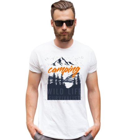 Camiseta Camping Wild life