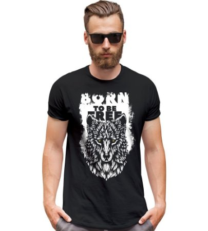 Camiseta Outdoor Wolf Born to be Free