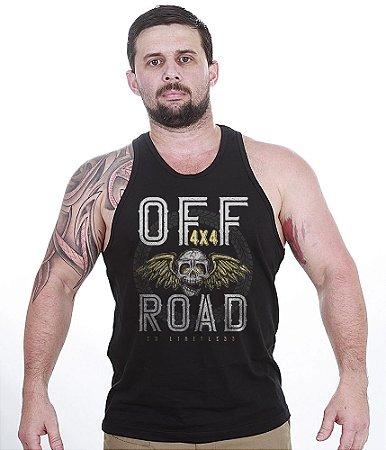 Camiseta Regata Off Road 4x4 Skull Fly