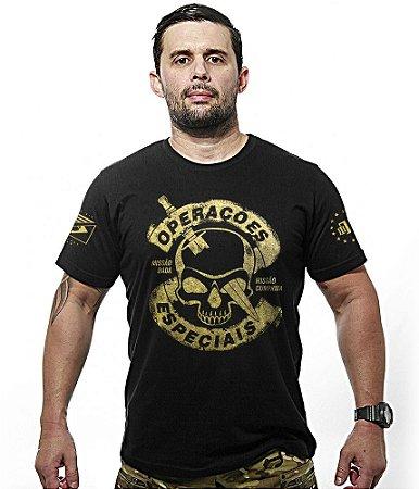 Camiseta Militar Operações Especiais Gold Line
