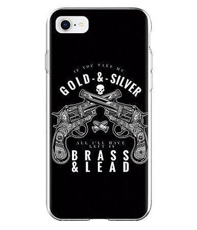 Capa para Celular Militar Gold And Silver