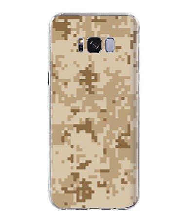 Capa para Celular Militar Camuflado Digital Desert