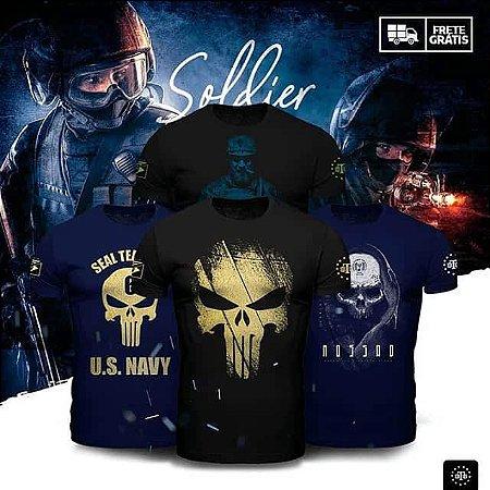 Kit Soldier 4 Camisetas Militares