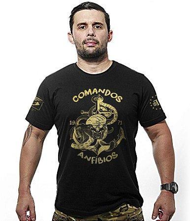 Camiseta Militar Comandos Anfibios COMANF Gold Line