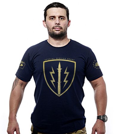 Camiseta Militar SSG Paquistão Special Service Group Gold Line