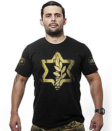 Camiseta Militar Israel Defense Gold Line