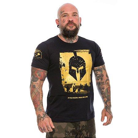Camiseta Militar Si vis Pacem Para Bellum Gold Line