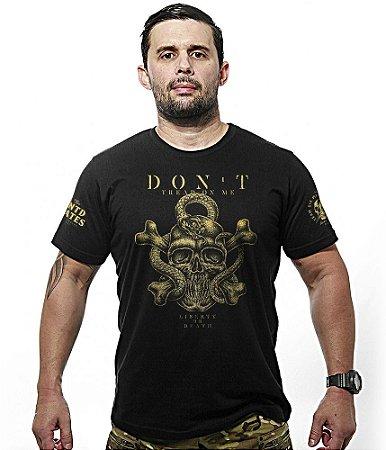 Camiseta Militar Don't Tread on Me Gold Line