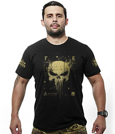 Camiseta Militar New Punisher Gold Line