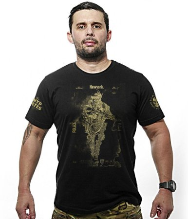 Camiseta Militar New Police NYPD Gold Line