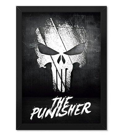 Poster Militar com Moldura The Punisher O Justiceiro