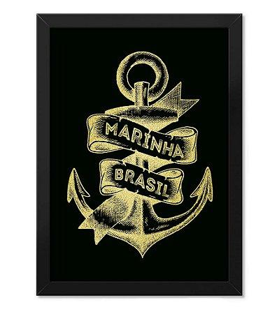Poster Militar com Moldura Marinha do Brasil