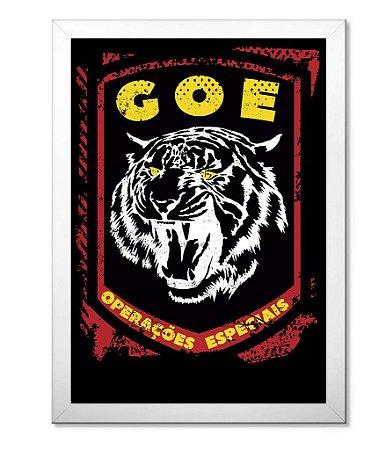 Poster Militar com Moldura GOE Operações Especiais