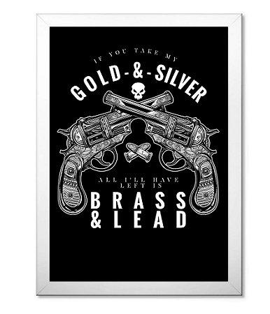 Poster Militar com Moldura Gold & Silver