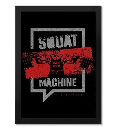 Poster Academia com Moldura Squat Machine