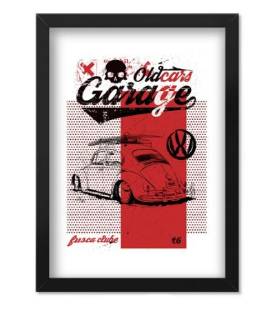 Poster com Moldura Old Cars Garage