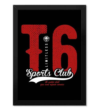 Poster com Moldura T6 Limitless Sports Club