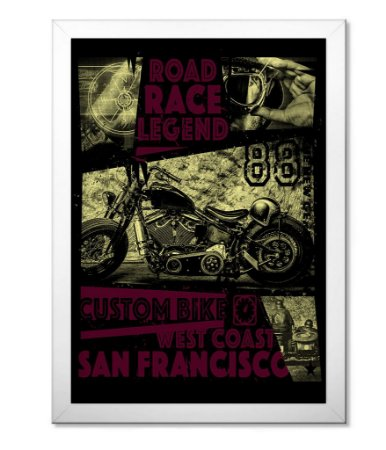 Poster com Moldura Road Race Legend