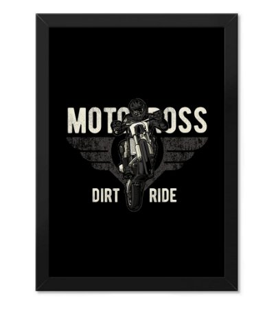 Poster com Moldura Motocross Off Road Dirt Ride