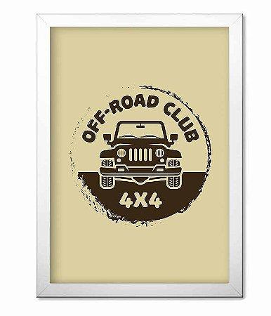 Poster com Moldura Off Road Club